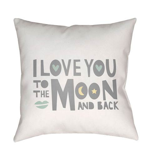 Surya Love To Moon Multicolor 20 x 20-Inch Throw Pillow