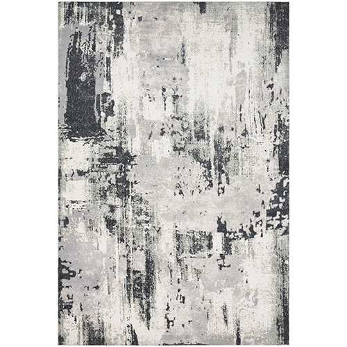 Quatro Silver and Charcoal Rug