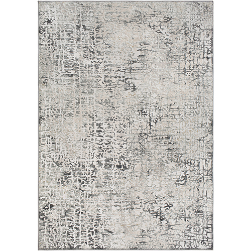 Quatro Silver and Grey Rectangular: 5 Ft. 3 In. x 7 Ft. 3 In. Rug