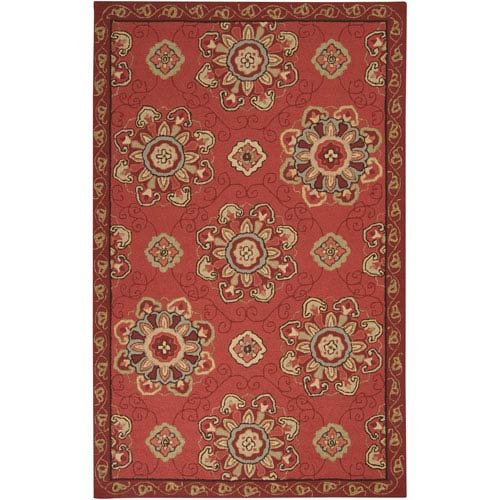 Surya Rain Burgundy Rectangular: 5 ft. x 8 ft. Rug