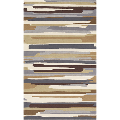 Rain Grey and Khaki Indoor/Outdoor Rug