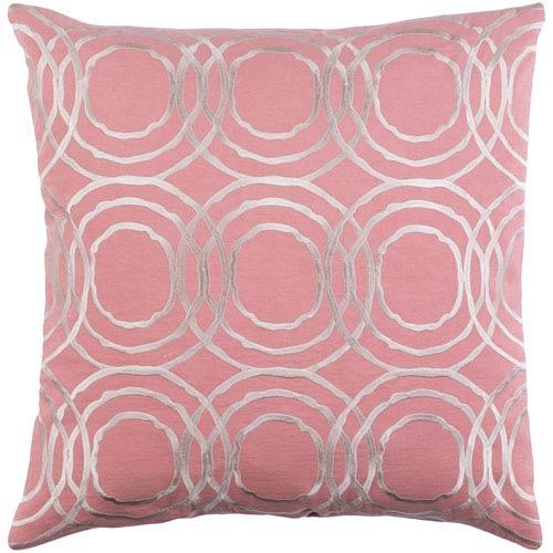 Surya Ridgewood Pale Pink and Cream 22 x 22 In. Throw Pillow