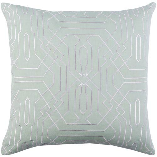 Ridgewood Mint and White 18 x 18 In. Throw Pillow