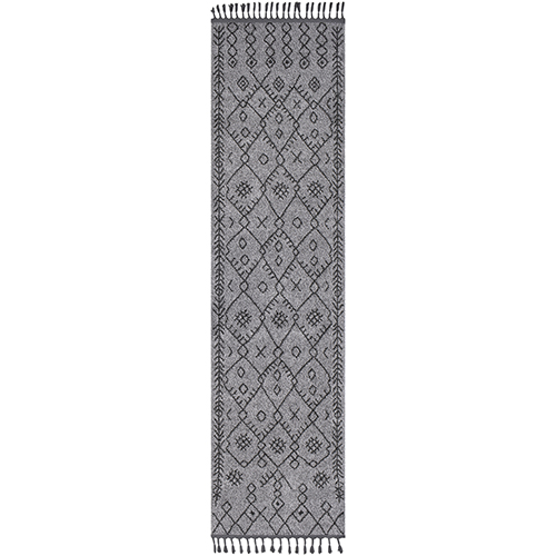 Restoration Grey and Charcoal Runner: 2 Ft. 7 In. x 10 Ft. Rug