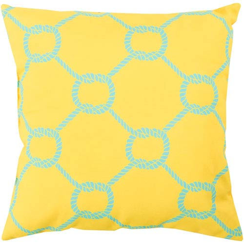Tied up in Delight Sunflower 20-Inch Pillow with Poly Fill