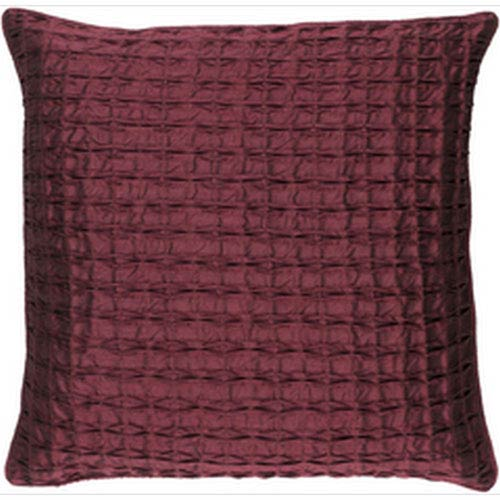 Rutledge Burgundy 22-Inch Pillow with Down Fill