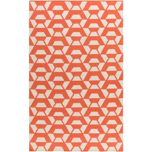 Surya Rivington Bright Orange and Cream Runner: 2 Ft. 6 In. x 8 Ft. Rug