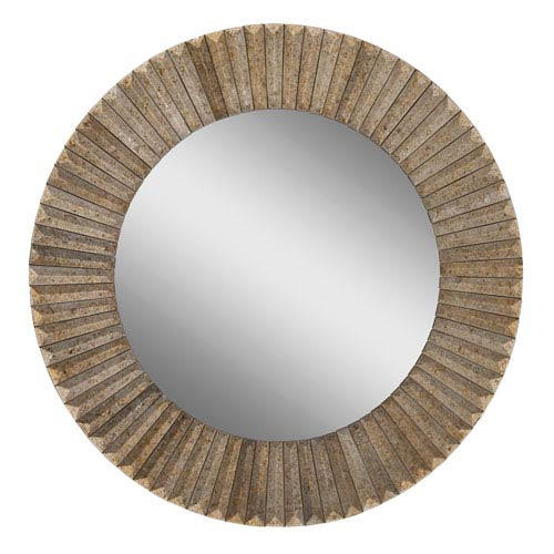 Bronze 28-Inch Round Mirror