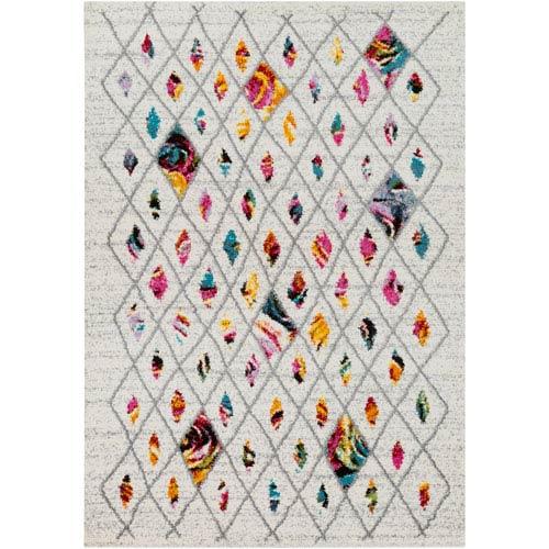 Surya Rainbow shag Multicolor Rectangular: 2 Ft. x 3 Ft. Rug