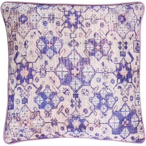 Roxana Pink and Purple 22-Inch Pillow with Poly Fill