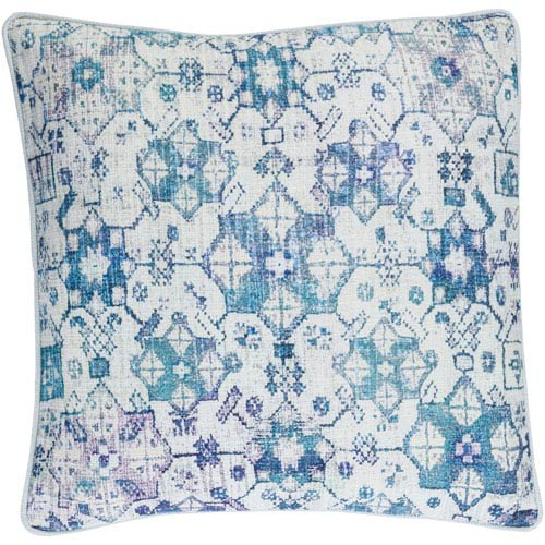 Roxana Blue 18-Inch Pillow with Down Fill