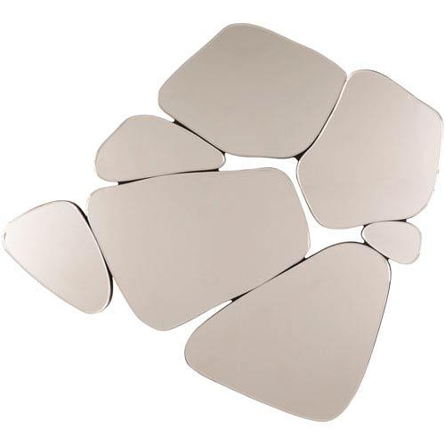Surya Rockyridge Silver Mirror