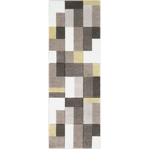 Surya Santa Monica Neutral Runner: 2 Ft. 7 In. x 7 Ft. 6 In. Rug