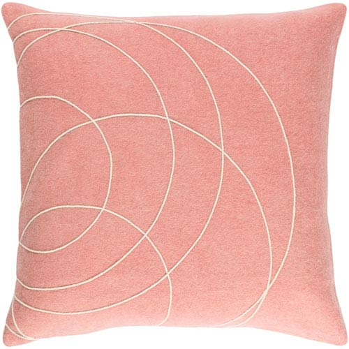 Solid Bold Purple and Neutral 22-Inch Pillow with Down Fill