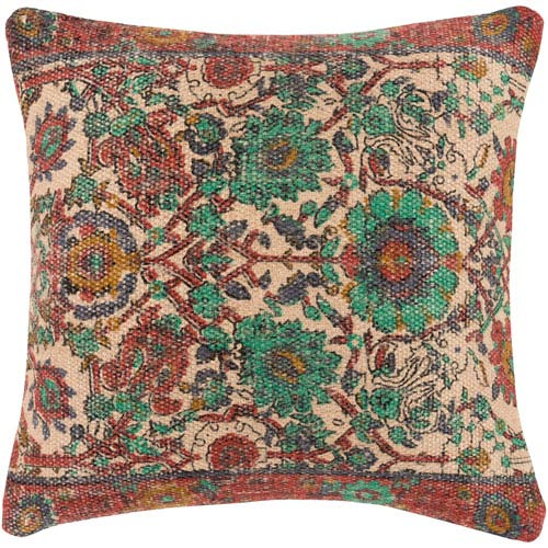 Surya Shadi Multicolor 18 x 18 In. Throw Pillow