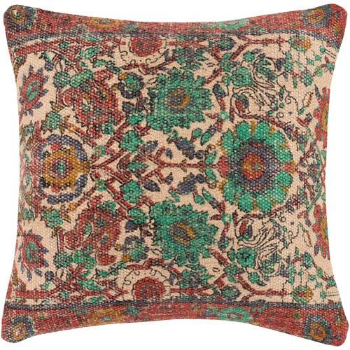 Surya Shadi Multicolor 22 x 22 In. Throw Pillow
