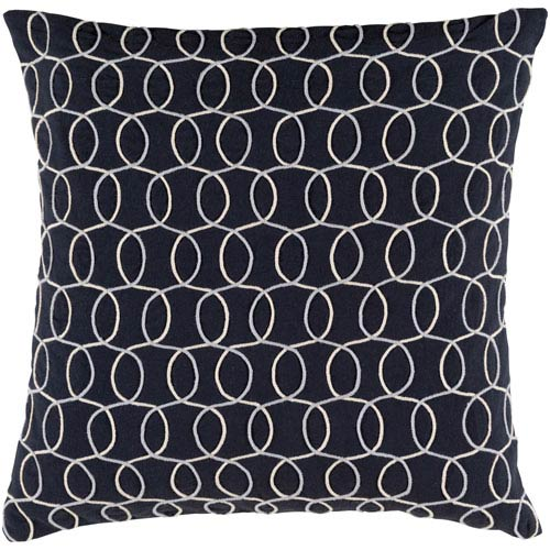 Solid Bold II Black and Gray 18-Inch Pillow Cover