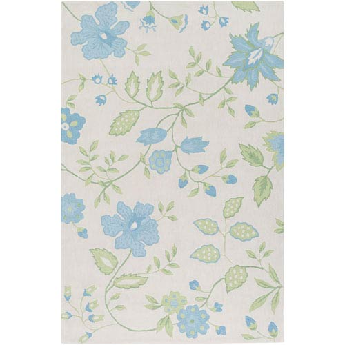 Skidaddle Blue and Green Rectangular: 2 Ft. x 3 Ft. Area Rug