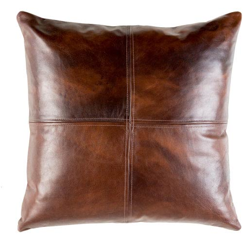 Sheffield Dark Brown 20 x 20-Inch Pillow Cover