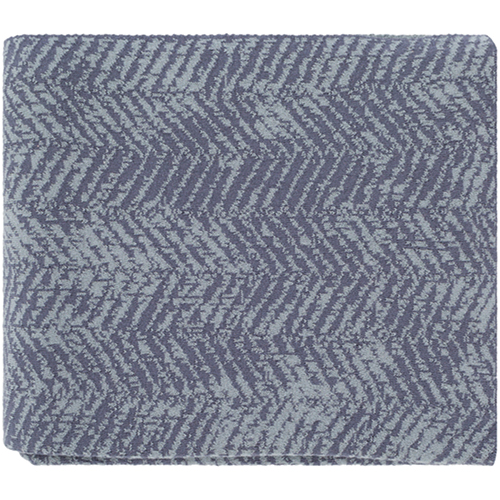 Stefan Charcoal and Ice Blue Throw