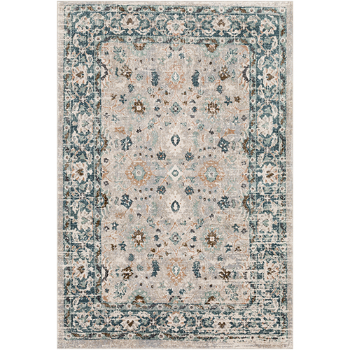 Soft Touch Teal and Taupe Rectangular: 2 Ft. x 3 Ft. Rug