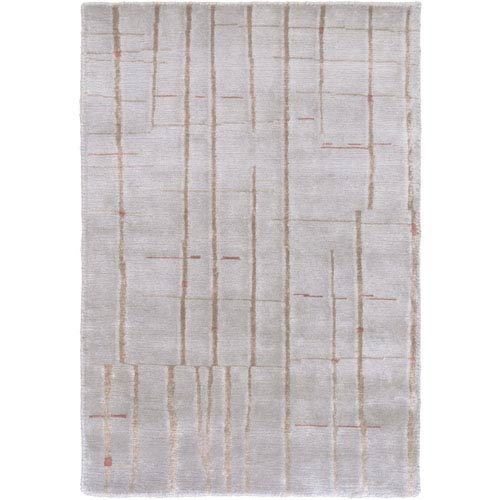 Surya Shibui Beige and Gold Rectangular: 2 Ft. by 3 Ft. Rug
