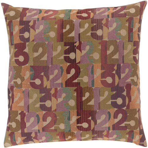 Shoop Shoop Purple and Green 20-Inch Pillow Cover