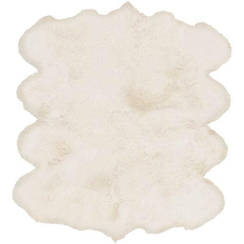 Sheepskin Ivory Rectangular: 6 Ft x 8 Ft Rug Product Image