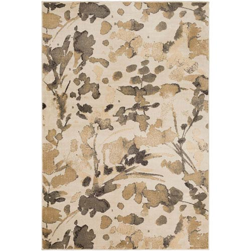 Steinberger Neutral and Brown Rectangular: 2 Ft. x 3 Ft. 3-Inch Rug
