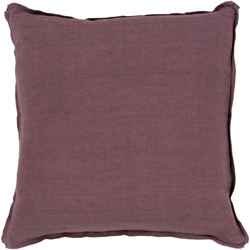 Surya Solid Purple 20 Inch Pillow Cover Sl010 2020 Bellacor