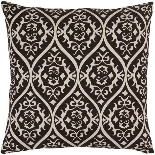 Somerset Black and Neutral 18-Inch Pillow Cover