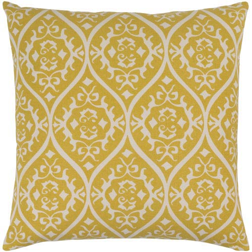Somerset Gold and Light Gray 18-Inch Pillow with Poly Fill