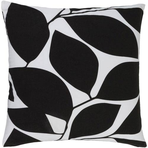 Somerset Black and Neutral 20-Inch Pillow Cover