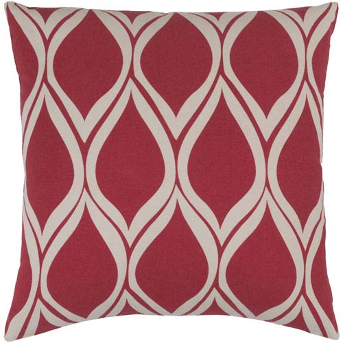 Somerset Red and Neutral 20-Inch Pillow Cover
