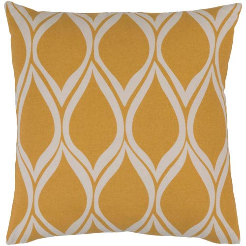 Somerset Yellow and Neutral 20-Inch Pillow Cover
