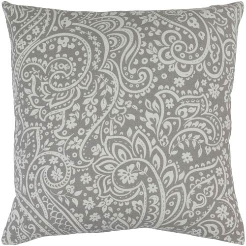 Somerset Gray and Neutral 18-Inch Pillow Cover