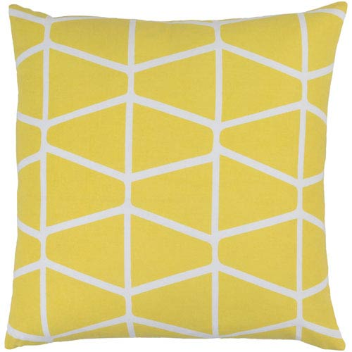 Somerset Yellow and Neutral 22-Inch Pillow Cover