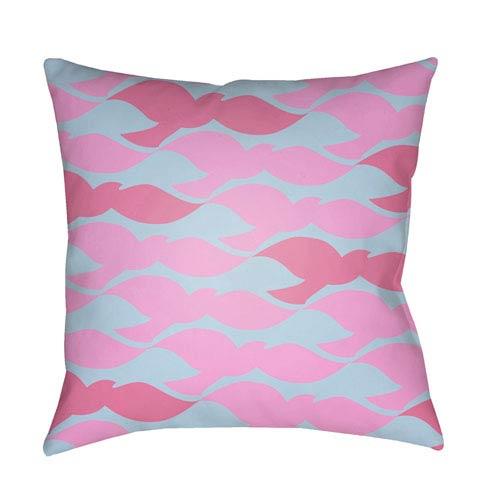 Surya Scandinavian Bright Pink and Aqua 22 x 22-Inch Pillow