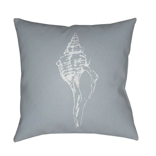 Surya Shells Blue and Light Blue 18 x 18-Inch Throw Pillow