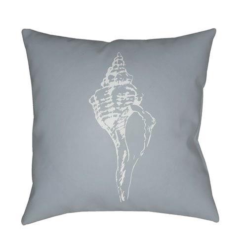 Surya Shells Blue and Light Blue 20 x 20-Inch Throw Pillow