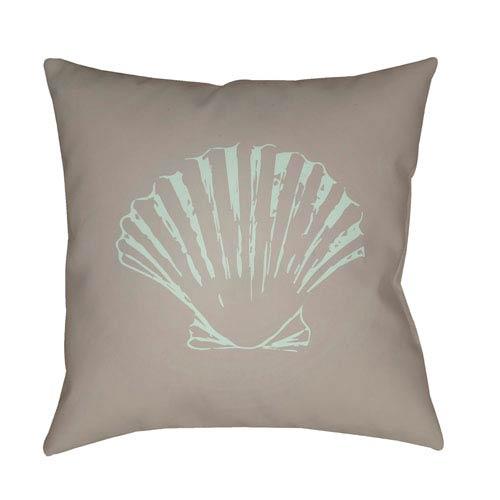 Surya Shells II Brown and Green 18 x 18-Inch Throw Pillow
