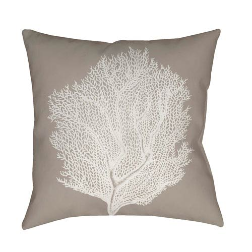 Surya Coastal II Beige and White 18 x 18-Inch Throw Pillow