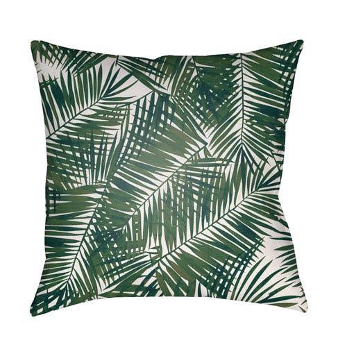 Surya Fern Leaf Green and White 20 x 20-Inch Throw Pillow