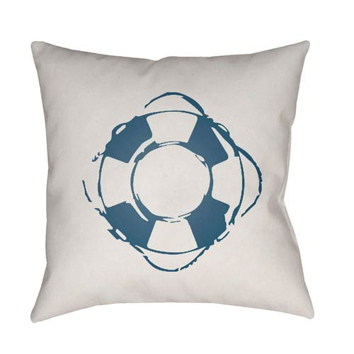 Surya Nautical Blue and White 20 x 20-Inch Throw Pillow