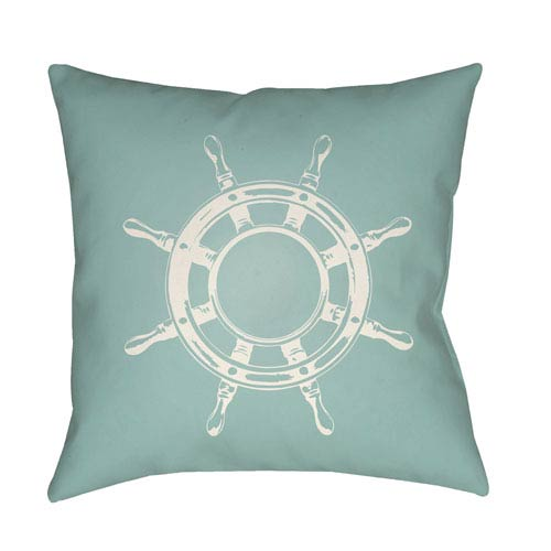 Surya Nautical II Green and Neutral 20 x 20-Inch Throw Pillow