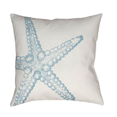 Surya Nautical III Blue and White 18 x 18-Inch Throw Pillow
