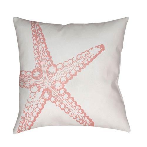 Surya Nautical III Pink and White 18 x 18-Inch Throw Pillow