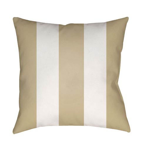 Surya Edgartown Tan and White 18 x 18-Inch Throw Pillow