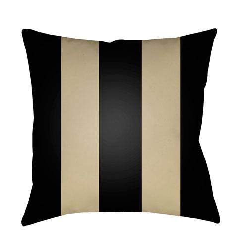 Edgartown Black and Tan 18 x 18-Inch Throw Pillow