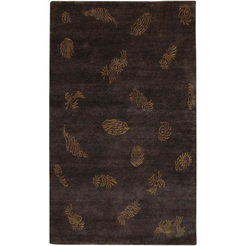 Surya Sonora Black and Brown Rectangular: 2 Ft. by 3 Ft. Rug